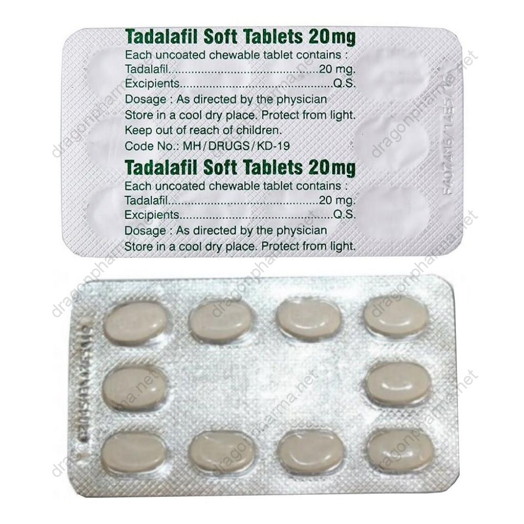 TADALAFIL SOFT 20 MG (Sexual Health) for Sale